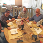 Con nuestros amigos de la agencia Seo Sem y Más (Fuengirola, Málaga). De izqda a dcha: Esther Gil, Ángel Hernández, Blas Morales, Quico Pérez-Ventana y Pati Ventana. Restaurante La Escondida. Febrero 2016.